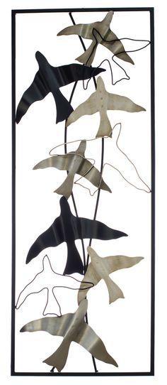 Set 4 Fly Away Metal Birds Wall Art Hanging $329.95