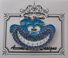 Accoutrement Designs Cheshire Cat Blue Needle Minder Magnet Mag Friends #AccoutrementDesigns