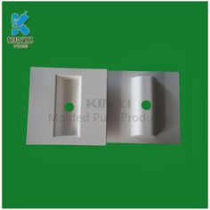 Recyclable fiber pulp electronic cigarette insert packaging tray
