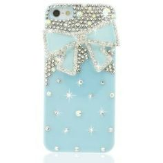 I found 'NEW Chic Series 3D Bling Crystal iPhone Case Cover - Blue Ribbon' on Wish, check it out!