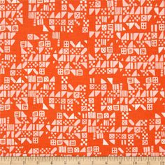 Cotton & Steel Clover Tiny Tiles Persimmon from @fabricdotcom  Designed by Alexia Marcelle Abegg for Cotton + Steel, this cotton print is perfect for quilting, apparel and home decor accents. Colors include