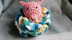 Pig Scrubby – Crocheted, Great baby shower gift!!Bath Toy, Great Gift Idea, Bath Accessory