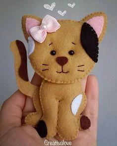 Teneri amici...  #creativalove #fattoamano #gatto #gattino #cat #pannolenci #feltro #animaletti #creatività #bimbi