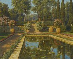 Jardin fleuri, Nice by Ivan Fedorovich Choultsé