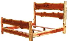 Cedar Log Headboards   Bedroom   Mast Rustic Furniture