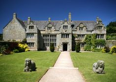 Trerice is a National Trust property nestled in Kestle Mill near Newquay, Cornwall, England, and is a hidden treasure of Elizabethan history with a beautiful terraced garden and orchard. Newquay Cornwall, English Manor Houses, Castles In England, National Trust, English Countryside, Britain, Beautiful Places, Places To Visit, Exterior