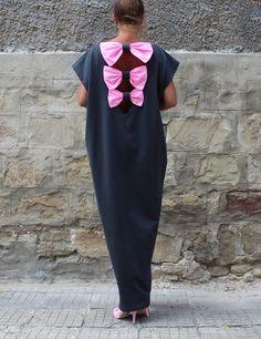 Dark Grey Backless Dress Maxi Dress Party от cherryblossomsdress
