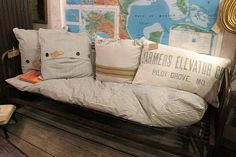 love the map & pillows..