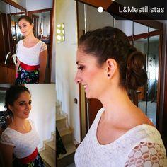 Hair. Make up. @mireialways @lauraashepherd recogido boda