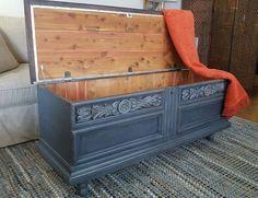 bondo und Holzkitt rettete diesen Jahrgang Brust, Kreide malen, bemalte Möbel, Wer t zusätzlichen Speicher benötigen doesn