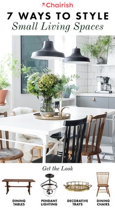 Whether you live in a 300 sq foot apartment in Manhattan or 900 sq foot home in San Francisco housing a family of four, you can live stylishly and comfortably in a small space. All it takes is a few steps and dedication to utilizing every single inch you have. Check out these tips from chairish.com to maximize a small space and give your home more breathing room.
