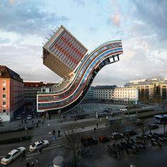 Unique Building in #Munich, Germany. #travel #inspiration #unique