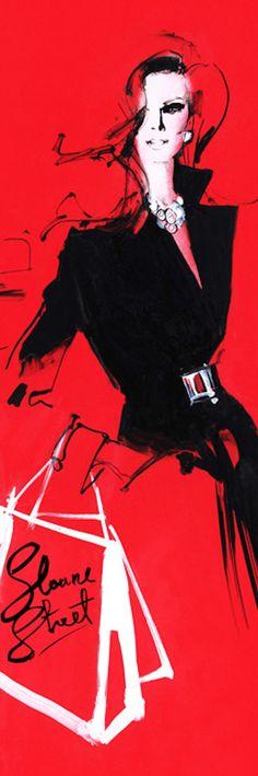 ¿Y después del enganche? «Concepción de David-Downton- Illustration-Sloane Street».