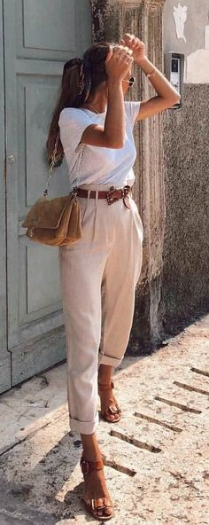 Summer Trends 2019 Fashion - Guide 2019 Vol. Preppy Outfits, Casual Summer Outfits, Mode Outfits, Classy Outfits, Spring Outfits, Fashion Outfits, Womens Fashion, Casual Summer Fashion, Culottes Outfit Summer