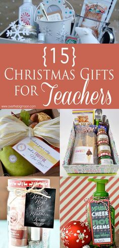 "15 Christmas Gifts for Teachers (not just for teachers). Movie Night Gift Pack ideas, ""White Christmas"" gift box, Green and Red Salsa w/ printable tags ... ..."