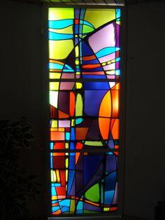 vitrail abstrait porte int rieure vitraux pinterest. Black Bedroom Furniture Sets. Home Design Ideas