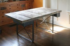 Industrial Rustic Work Desk