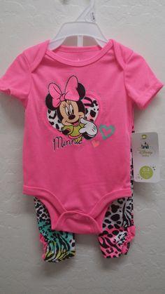 9cc85620e1 NWT Baby Girl Disney Minnie Mouse Outfit 2 Piece Set Clothes Disney Baby  Clothes Girl
