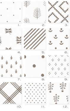 Pretty patterns for business cards from stripe & field.
