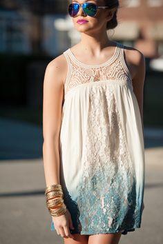 Ombre boho dress  #swoonboutique