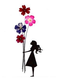 Pressed Flower Designs | Handmade Designer Greeting Cards with REAL by studioflowerpower