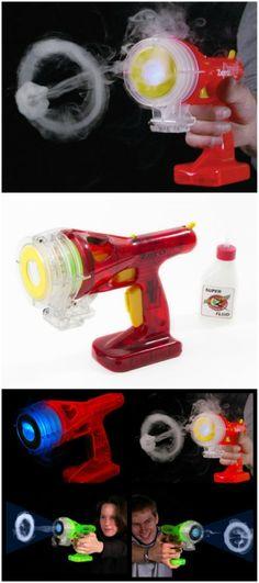 Smoke ring toy gun
