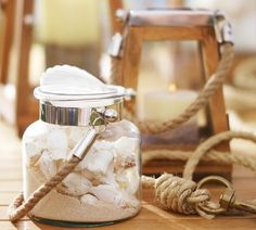 Fill lanterns with shell collections.