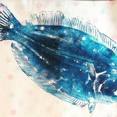Finn's fish print today at Queen's Hall Hexham  #printbiennale #gyotaku