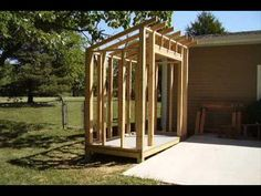 Inexpensive Outdoor storage ideas | It Looks Like You Are Looking For How To Build a Lean-To Style Storage ...