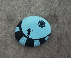 Painted Stone Under the Rain of Love by dmlrgn on Etsy