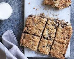 Simply melt and mix for this textured traybake from Bill Granger - great after dinner and on the cake stall! Tray Bake Recipes, Pastry Recipes, Baking Recipes, Dessert Recipes, Desserts, Food Deserts, Bar Recipes, Chocolate Coconut Slice, Bill Granger
