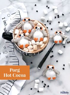 When it comes to the latest film, Star Wars: The Last Jedi introduces quite possibly the cutest creatures of all. Turn the adorable porgs into your very own homemade marshmallows! They're perfect as a little treat or floating on top of a mug full of your favorite hot cocoa.