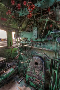 Old train engine roomYou can find Old trains and more on our website.Old train engine room Abandoned Train, Abandoned Buildings, Abandoned Places, Train Car, Train Tracks, Train Room, Train Tattoo, Bonde, Old Trains