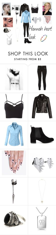 """""""Hannah hart inspired look"""" by jadesalas on Polyvore featuring J Brand, Charlotte Russe, Acne Studios, LE3NO, alfa.K, LUSASUL, Le Mos, Gorjana, NOVICA and Bling Jewelry"""