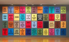 From Daniel Faria Gallery, Douglas Coupland, Slogans for the Century 148 pigment prints on watercolour paper, laminated onto aluminum, Art Slogans, Youtube Time, Douglas Coupland, Vancouver Art Gallery, Open Art, News Around The World, Event Marketing, Canadian Artists, Art Google