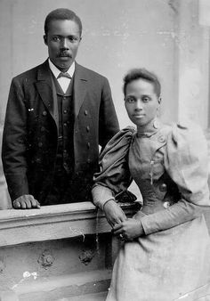 George Crum, the chef who invented potato chips and his wife.