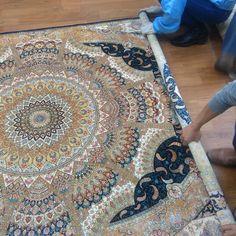 Nice Persian design handmade silk carpet