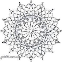 Motif Mandala Crochet, Crochet Mandala Pattern, Granny Square Crochet Pattern, Doily Patterns, Flower Mandala, Crochet Patterns, Crochet Mittens Free Pattern, Crochet Snowflake Pattern, Free Crochet