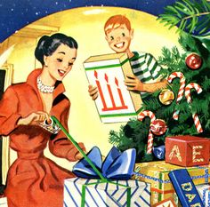Vintage Christmas image.