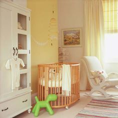 Wander through our hip yellow baby room. Get more decorating ideas at http://www.CreativeBabyBedding.com