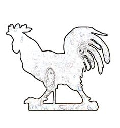 rooster saw pattern