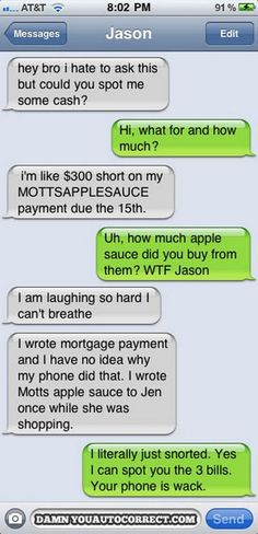 Awesome Autocorrects and Funny Texts