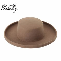 7ea9913c5a85b Autumn Winter Fashion wool Vintage Wide-Brim Flanging Fedoras Hats for Women  Men Bowler Floppy Feminino.