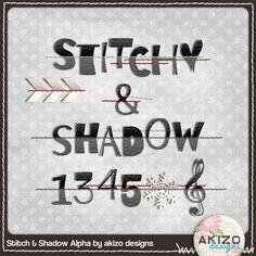 Stitch & Shadow alpha freebie from Akizo Designs