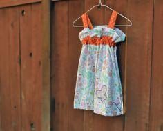 Girls dress size 3 toddler summer dress girl by ValkinThreads, $25.00 #apparel #fashion #kids #clothing