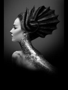 Avant garde hair & glitter neck   The House of Beccaria