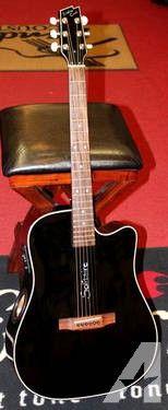 Boulder Creek Solitaire ECR1-B Acoustic Electric Guitar