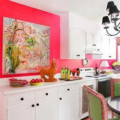 Pink Kitchen C Colors Decor Buffet White