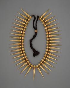 Jasmine-Bud Necklace (Malligai Arumbu Malai) | India (Tamil Nadu and Kerala) | The Metropolitan Museum of Art Color Dorado, Gold Jewelry, Ethnic Jewelry, Indian Jewelry, Jewelry Art, Antique Jewelry, Kerala Jewellery, Vintage Jewelry, Fine Jewelry