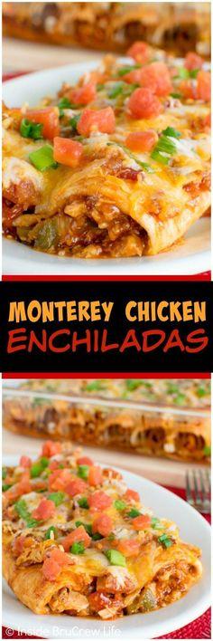 Great Monterey Chicken Enchiladas - Inside BruCrew Life, ,